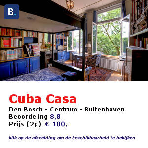 bed and breakfast den bosch hertogenbosch cubacasa